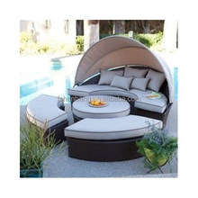 <span class=keywords><strong>Outdoor</strong></span> <span class=keywords><strong>Dag</strong></span> Bed Met Luifel Sectionele Daybed Lounge Patio Dek Set Meubels