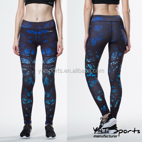 Hot Wholesale Frauen Fitness tragen Leggings benutzerdefinierte Design Sublimation Waldmuster voll Strumpfhosen Yogahosen