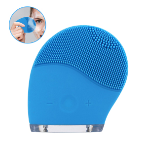 Wholesale Electric Silicone Sonic Vibration Face Wash Exfoliator Facial Cleansing Brush