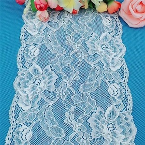 Nylon spandex lace trims stretch elastic lace
