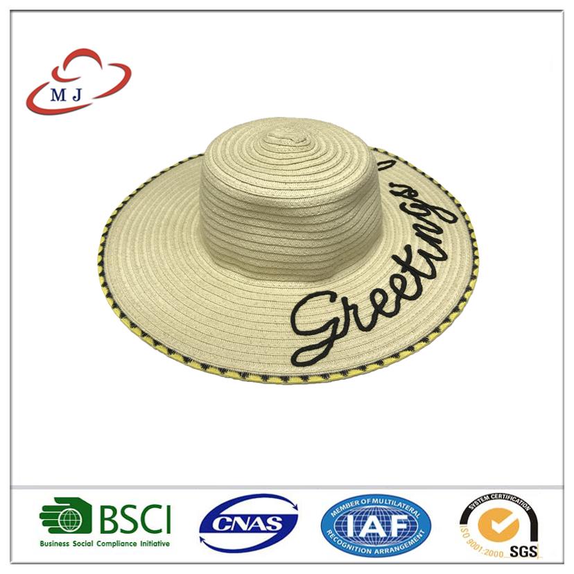 New Women Beach Hat Lady Cap Wide Brim Floppy Fold Summer Sun Straw ... 3c0d818230e