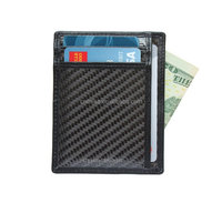 high quality rfid blocking carbon fiber card holder/money clip