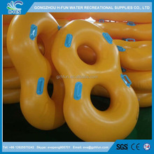 1.0mm pvc high quality inflatable waterpark slide double tubes with custom printing