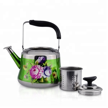 Tea Infuser Bottle Color Changing Kettle Set With And Flower Printed