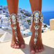 Wholesale Fashion Statement Body Jewelry 2017 New Style Rhinestone Anklet Pied Foot Jewelry Sexy Leg Chain Crystal Anklets