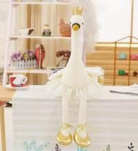 1 шт. 35 см 50 см 80 см балетное платье с героями мультфильмов Лебедь Фламинго соска плюшевая кукла милая мягкая игрушка детский подарок на свад...(Китай)