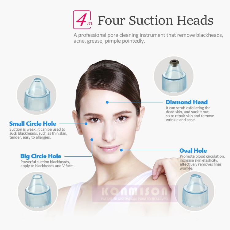 Blackhead Acne facial pore clearner Vacuum blackhead remover