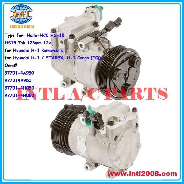 97701-4A950 977014A950 97701-4H050 97701-4H060 compressor for Halla-HCC HS-15 HS15/Auto compressor HS-15 HS15 7pk