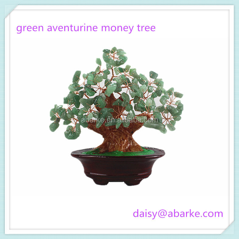 17cm Green Aventurine Small China Decorative Crystal Trees
