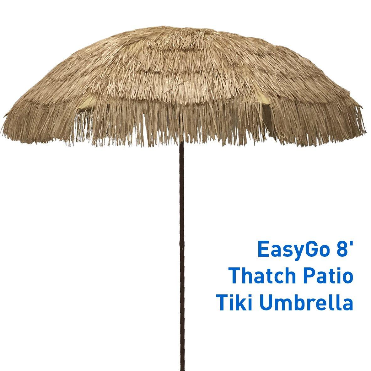Get Quotations Easygo Thatch Patio Tiki Umbrella Tropical Palapa Raffia Hut Hawaiian Hula Beach