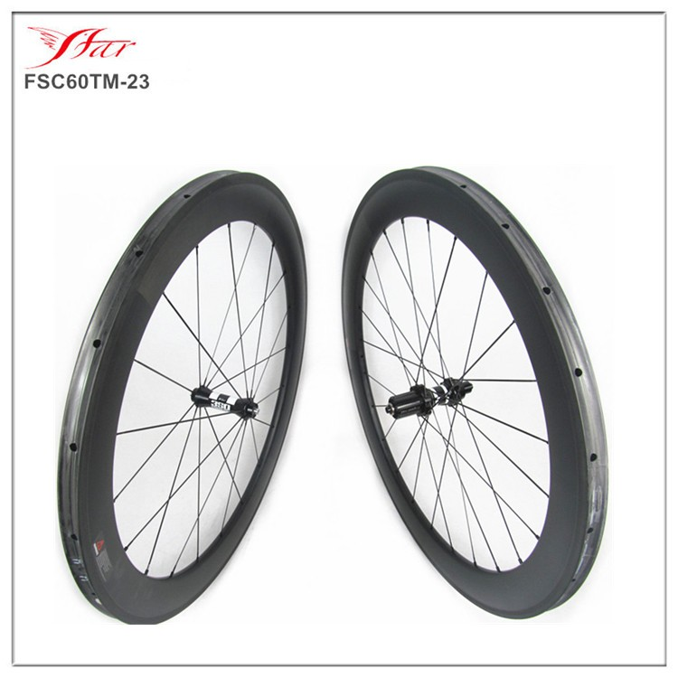 carbon bmx wheels high-profile carbon wheels 60mm 25mm with DT350s hub Sapim cx-ray spokes 20/24H UD matte