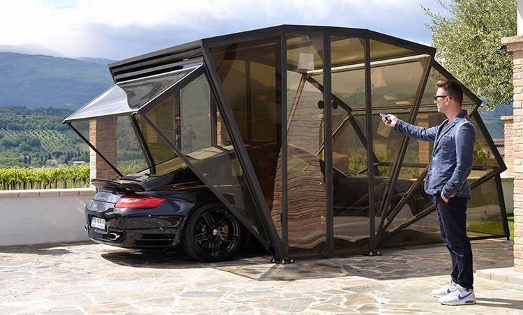 Sun Sail Collapsible Car Garage : Sunsail solar energy folding portable motorized car garage