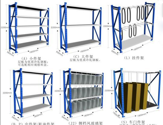 Various Sizes Mutil Function Medium-duty  Warehouse Storage  Racks