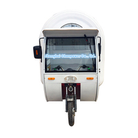 CP-G230165230 automatic street vending bike food cart equipment customized food trailer mobile fruit catering booth