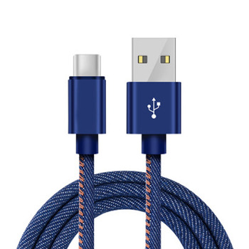 Wholesale Usb Mobile Phone Jeans Cable For Iphone Fast Charger Usb Data Cable Type-c For huawei P9 P10 P20 P30 Lite Pro