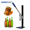 ZONESUN Manual Glass Beer Bottle Capping Machine, Beer Bottle Capper, Crown Cap Capper Sealing