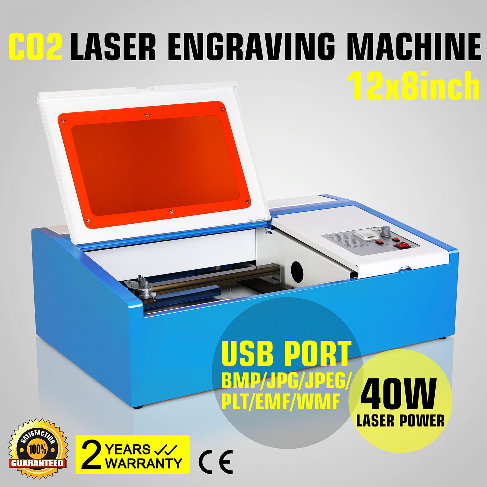 Vevor 300x200mm Engraver Cutter 40W CO2 Laser Engraving Cutting Machine