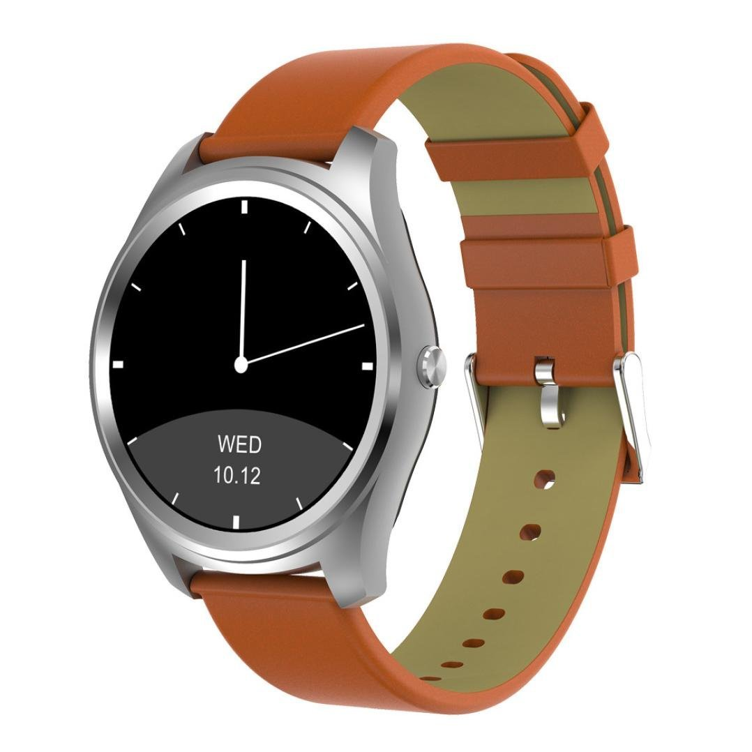 Smart Watch,Rucan Wrist Bluetooth Fashion New Camera Heart Rate For iOS Android (B)