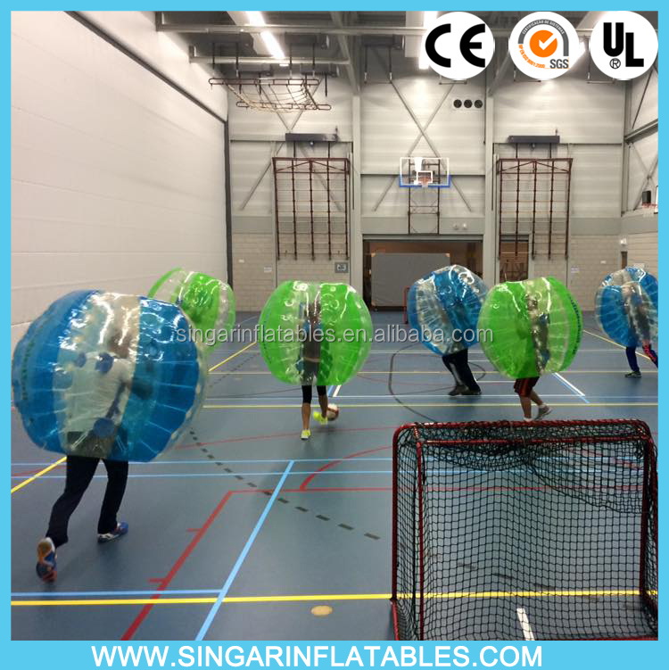 1.5m 0.7mm TPU Bubbles Blue Green Fashion sports entertainment bubble football bubble soccer inflatable body zorb <strong>ball</strong>