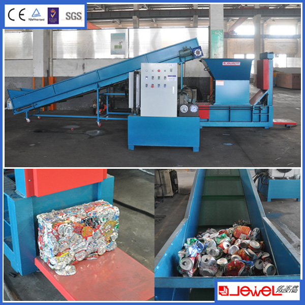 Specially Designed Aluminium Cans Recycling Machine Baler