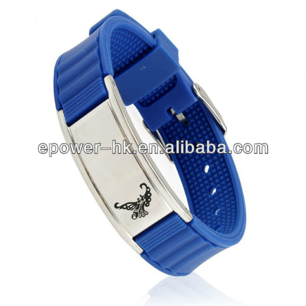 magnetic silicone bands,ion magnet band, custom stainless steel wristband