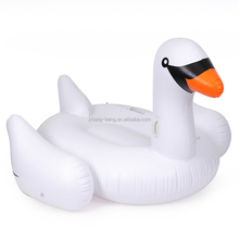 "0.3mm 6P free PVC 75"" Rideable Inflatable Swan Floats Giant Pool Float"