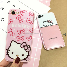 kitty cat pc Film titanium alloy frame phone case Anti-scratch Cover for iphone,Metal phone Cases cover phone accessories