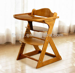 comfortable wooden baby high chair