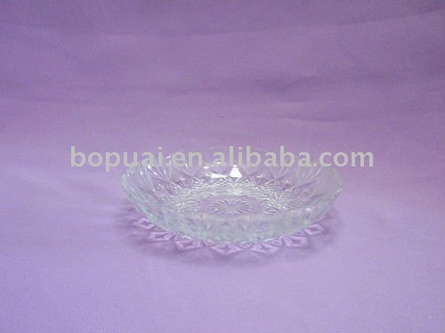 glass fruit plate/clear glass plates/glassware