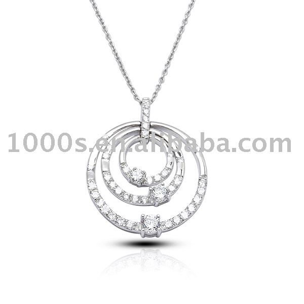925 sterling silver pendant with cz ,fashion pendant,cz pendant