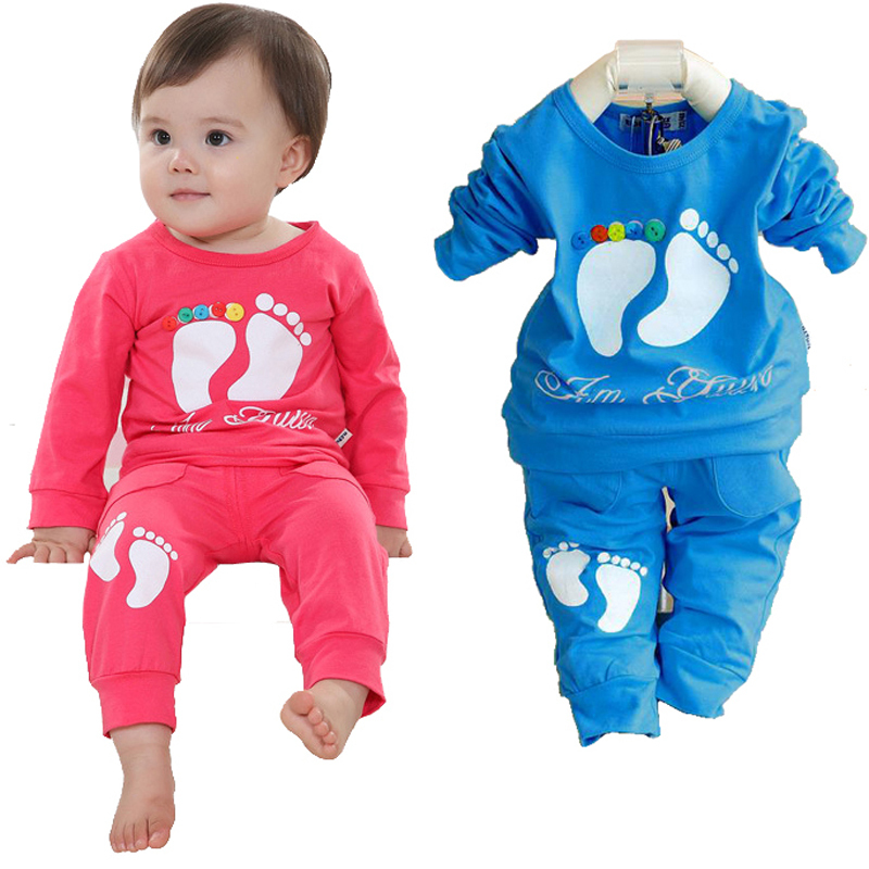 Unisex Kids Clothes Fashion Baby Clothing Set Cotton Baby Girl Clothes Sort Suit Infant Cloths Brand Girl Outfits Shirt+Trousers