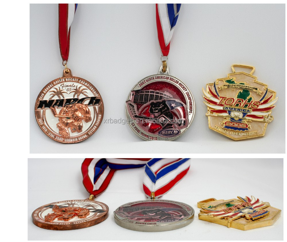2015 die-casting customized zinc alloy metal medal