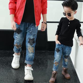 2a73b2de7f3a5 De Niños Ropa Hip Hop Últimos Jeans Modelo De Parches Para Vaqueros ...