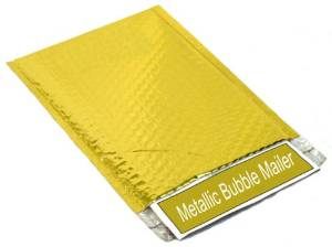 """250 Gold Metallic Glamour Bubble Mailers Padded Envelope Bags 7.5"""" x 11"""""""