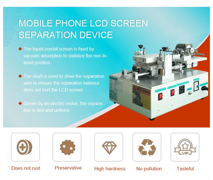 YMJ 15 inch mobiele telefoon vacuüm glas oca lcd snijden separator machine