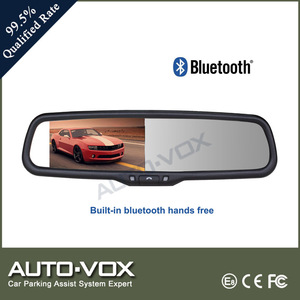 4.3 car rearview mirror monitor bluetooth