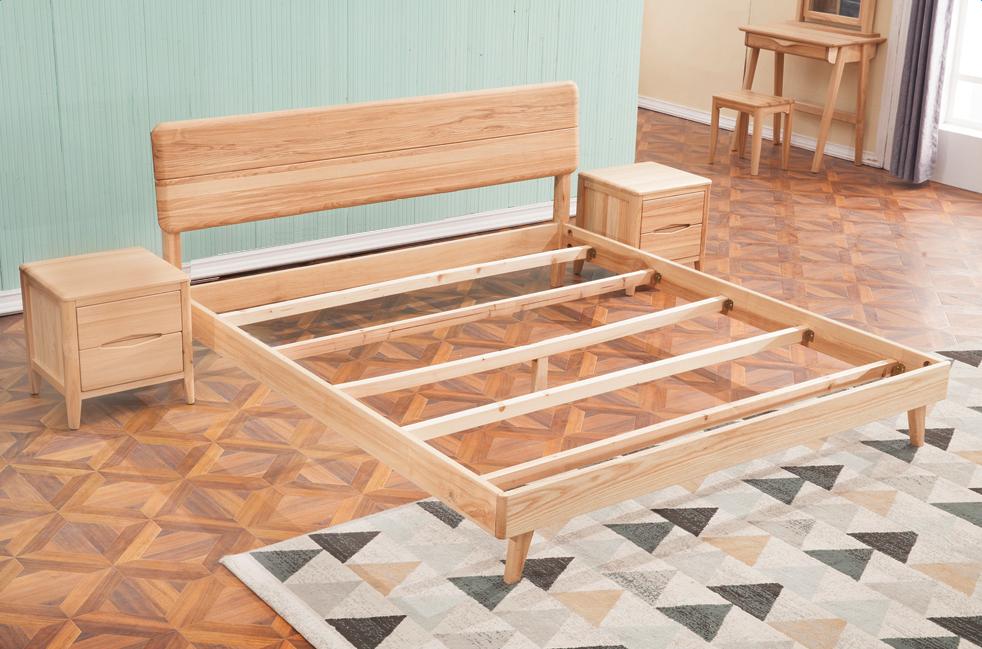 Habitación Conjunto Doble De Madera Muebles De Diseño Cama Tamaño ...