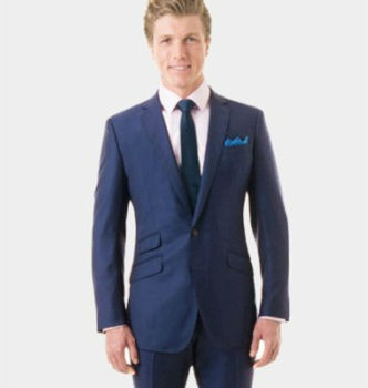 New Solid Royal Blue Wool Tailored Suit - Buy Tailored Suit,Custom ...