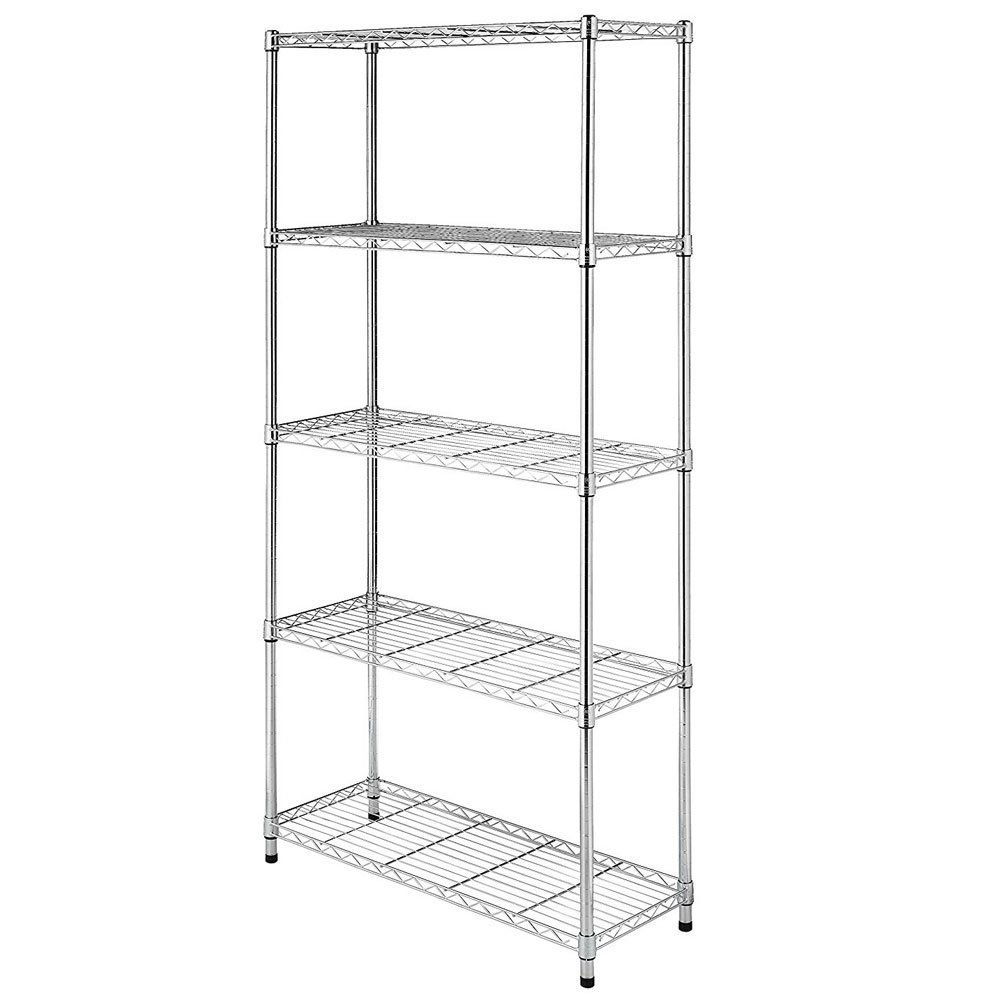 5-Layer Chrome Plated Iron Shelf 1809035 Chrome (Silver)