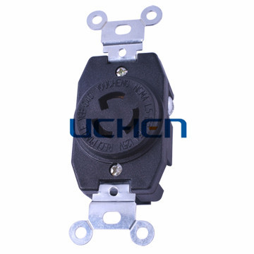 3 pin locking socket / 3 pin electric socket / 15 amp locking socket