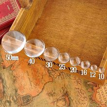 25mm Bezel Tiles Domes Glass Stone Round Cabochon Clear Transparent