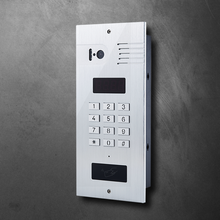 Apartment IP video door phone, RFID card, IP camera, 2 wire video intercom system