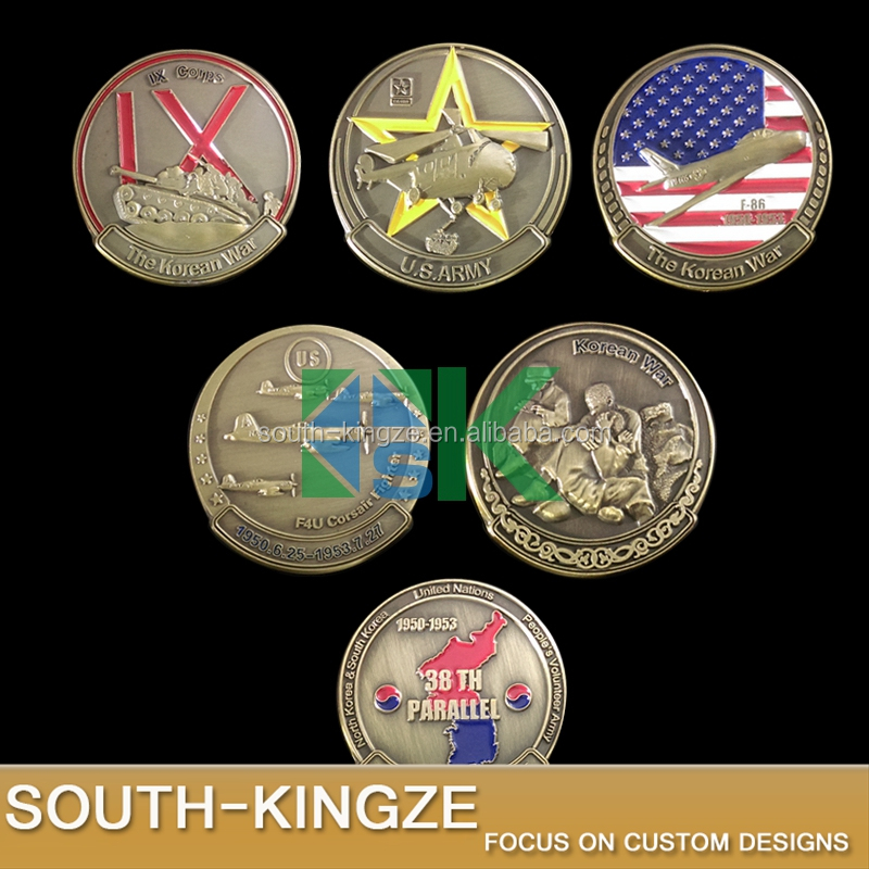 Souvenir the Korean War 38th Parallel US army symbol arts challenge coins