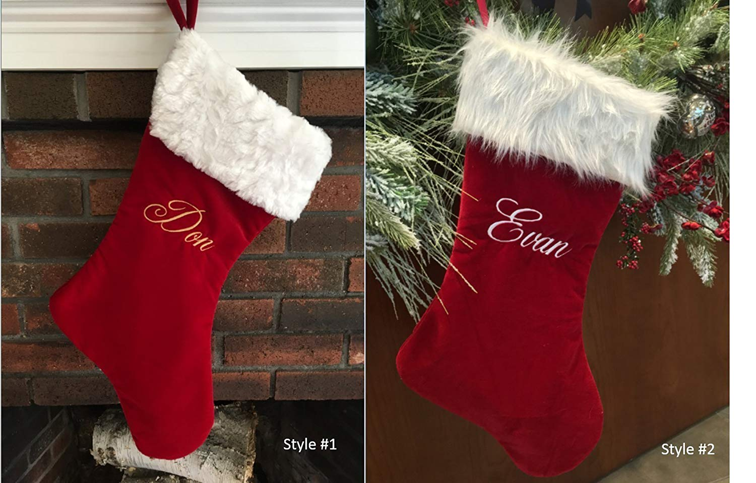 Buy Personalized Velvet Diamond Christmas Stockings Available in ...