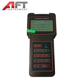 handled type ultrasonic flow meter LCD digital water flow meter