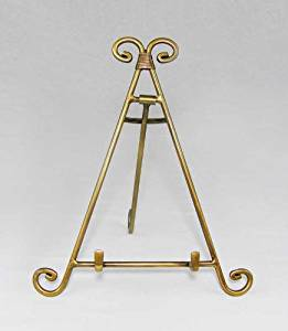 Easels, Decorative Easels from Easels by Amron, 10 Inches High (Antique Brass)
