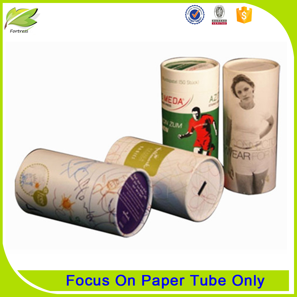 2017 Eco-friendly packaging t shirt round paper tube