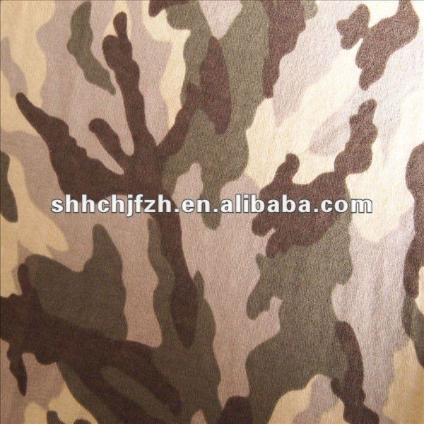 T/R65/35 Single Jersey Knitting french camouflage Textile Fabric