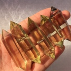 Wholesale Natural clear citrine crystal double points wand for healing