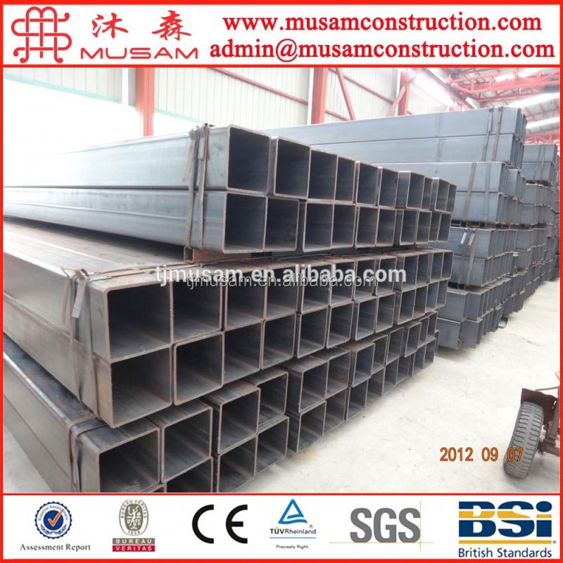 Structural steel / square pipe 30*30mm-520*520mm from tianjin manufacturer high quality